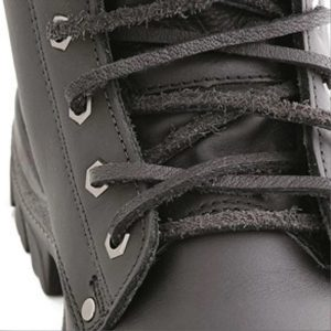 Steel Blue Leather Laces