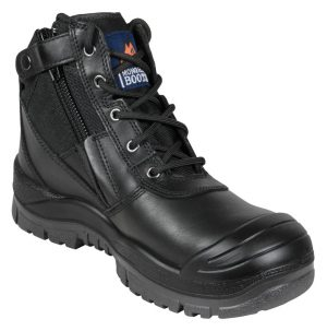 Mongrel 461020 zipsider Safety Boot, Black